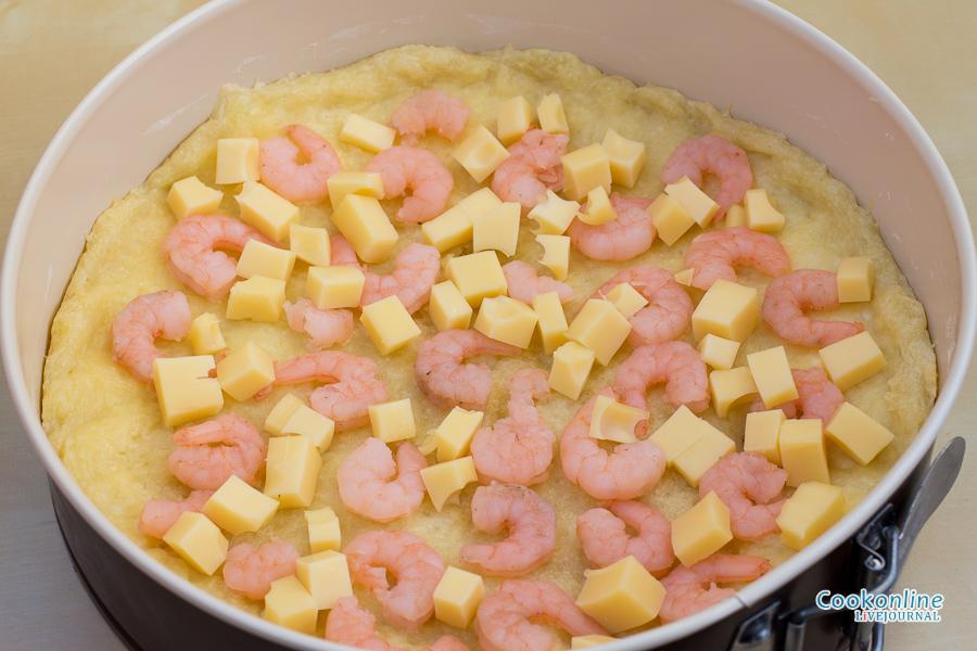 начинка креветки и сыр