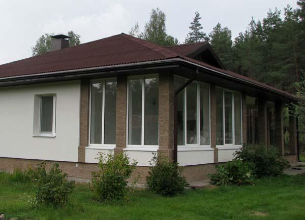 Закрытая терраса к дому фото