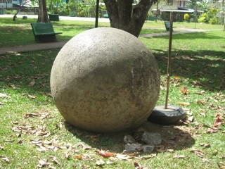 These round balls are very interesting... no one really knows where they come from or how they got here, but there only in Costa Rica very close to the Panamanian boarder