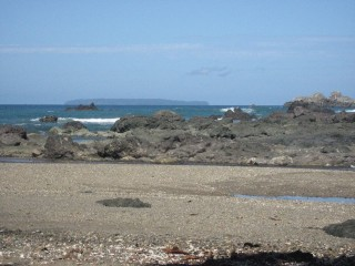The island you can see is 12 miles away, its Cano Island. We went SCUBA diving there and it was amazing