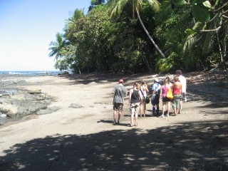 Our guide, Consuela, showed us how to crack open coconuts with a rock
