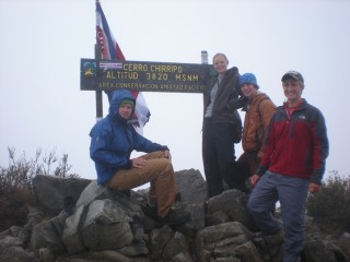 The four at the top of Chirripo