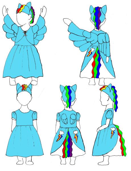 Rainbow Dash Dress Idea