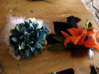 And presto!  Fascinators.