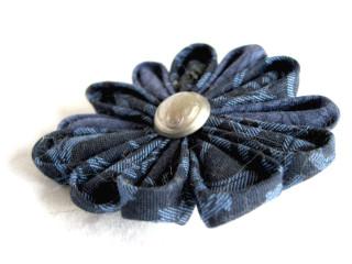 Fabric Flower in Blue