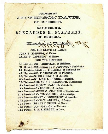 ConfederateElectoralBallotVirginiaNov6186