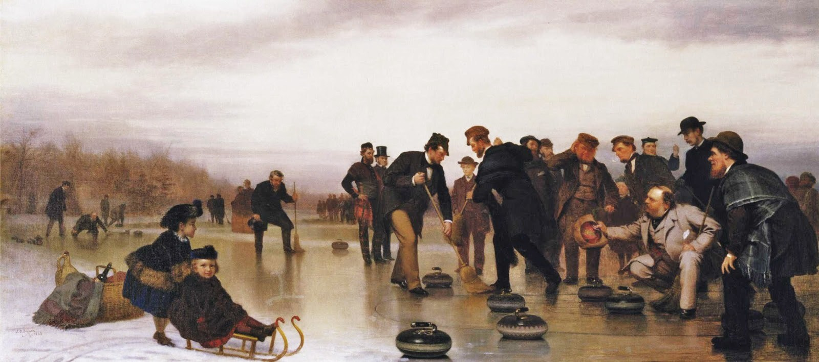 1 John George Brown (American artist, 1831-1913) Curling, a Scottish Game, at Central Park