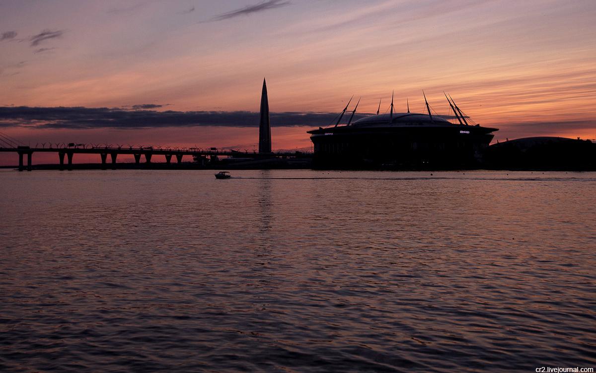 Санкт-Петербург. Закат на Петровской косе