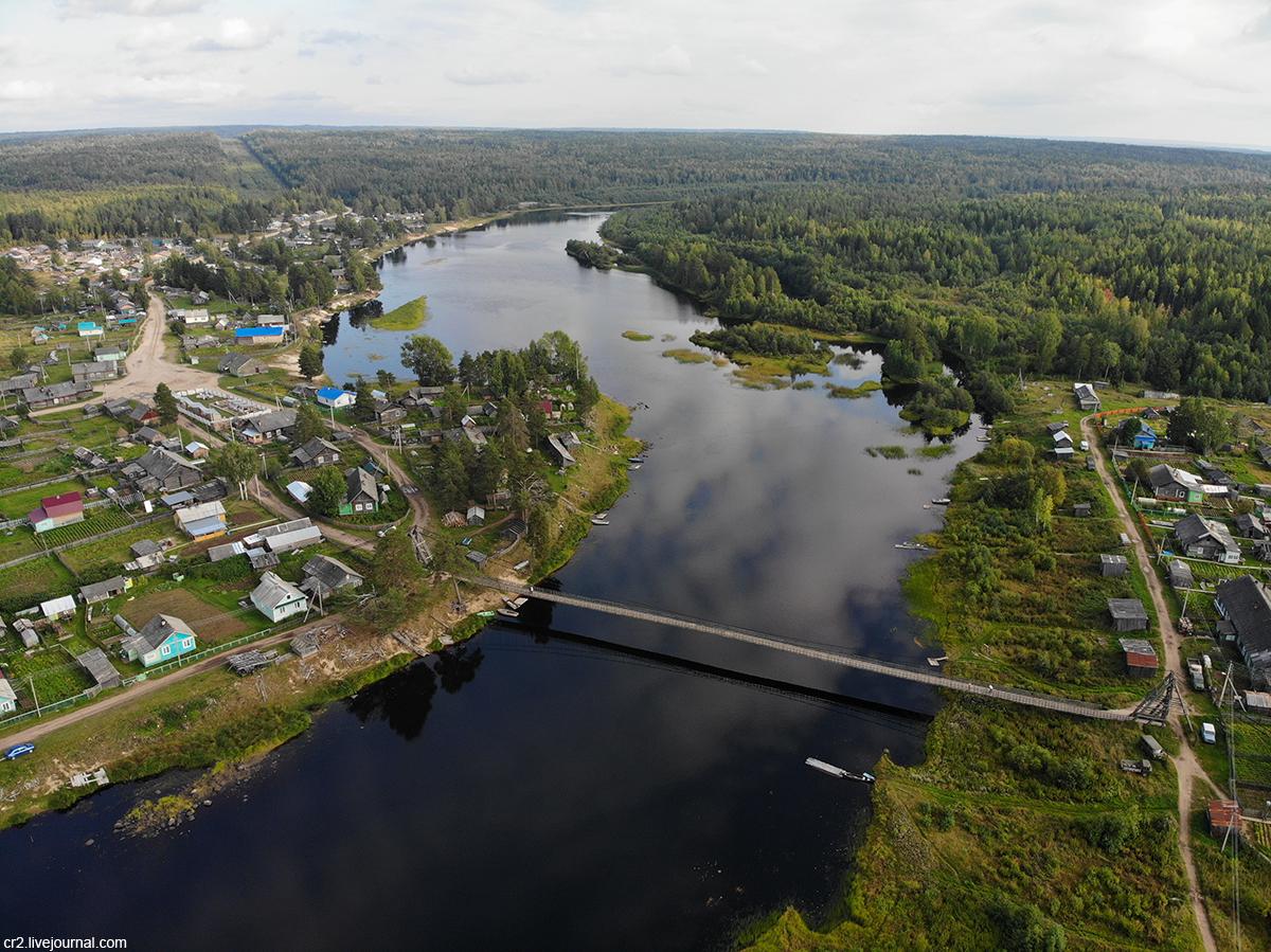 Архангельская область. Посёлок Поча с высоты