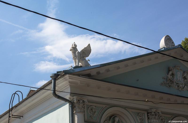Деталь усадьбы Наумовых-Олениных-Думновых в Малом Кисловском переулке. Москва