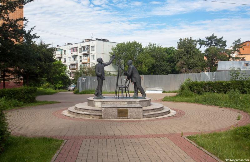 """Памятник """"Встреча Королёва и Циолковского"""". Калуга"""