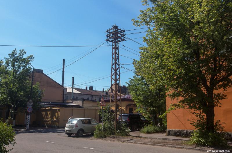 Возможно ещё финский электрический столб. Приозерск, Ленинградская область