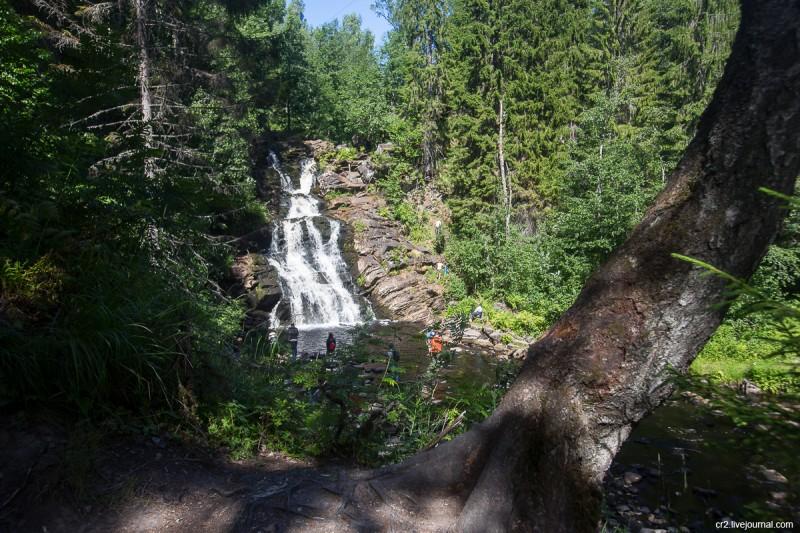 Водопад «Белые мосты», Карелия