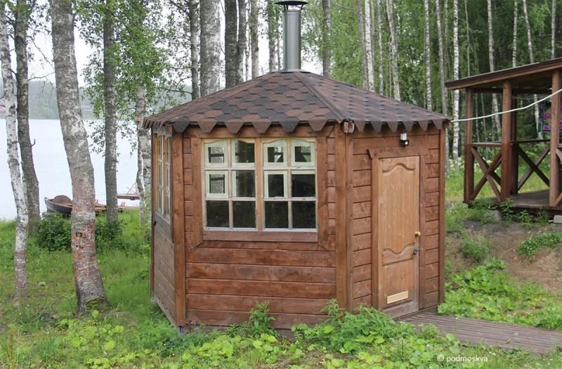 """Беседка в гостевом доме """"Крошнозеро"""". Крошнозеро. Карелия. Фото @podmoskva"""