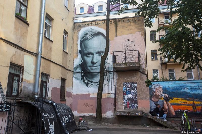 """Портрет вокалиста группы """"The Prodigy"""" Кита Флинта от студии """"UrbanFresco"""" на Лиговском, 47. Санкт-Петербург"""