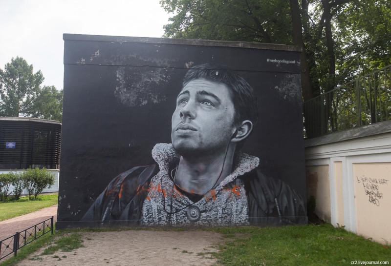 Портрет Сергея Бодрова у Александро-Невской лавры. Санкт-Петербург