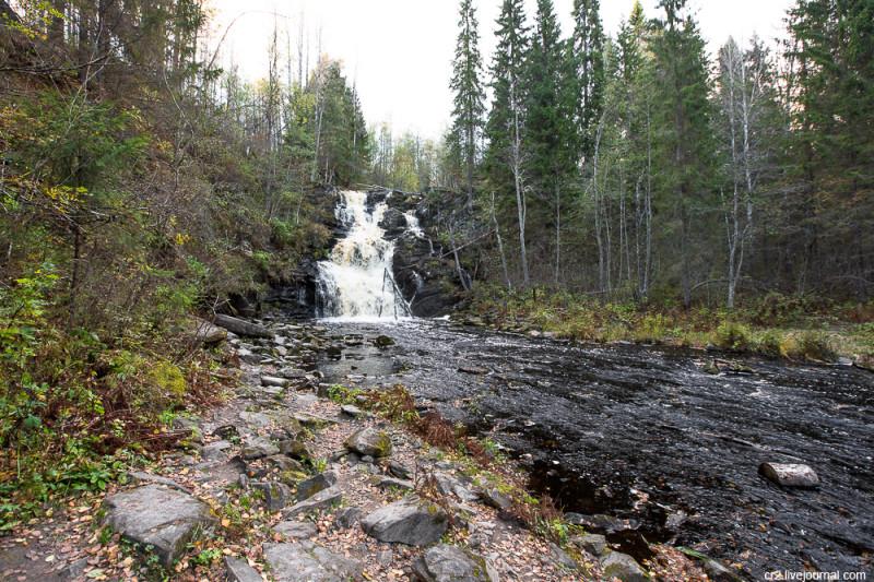 """Водопад Юканкоски (он же """"Белые мосты""""). Карелия"""