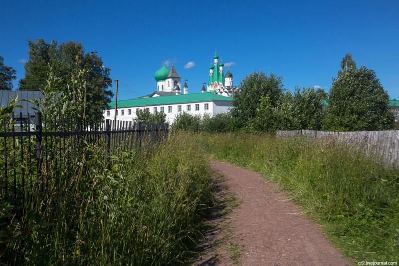 Александро-Свирский монастырь. Вид на Троицкую часть. Ленинградская область