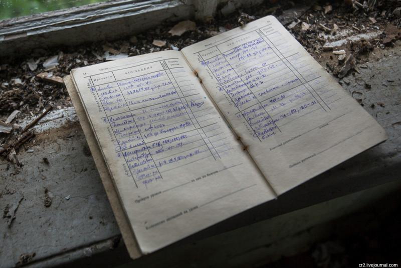 Школьный дневник 1940-х годов в заброшенной деревне. Архангельская область