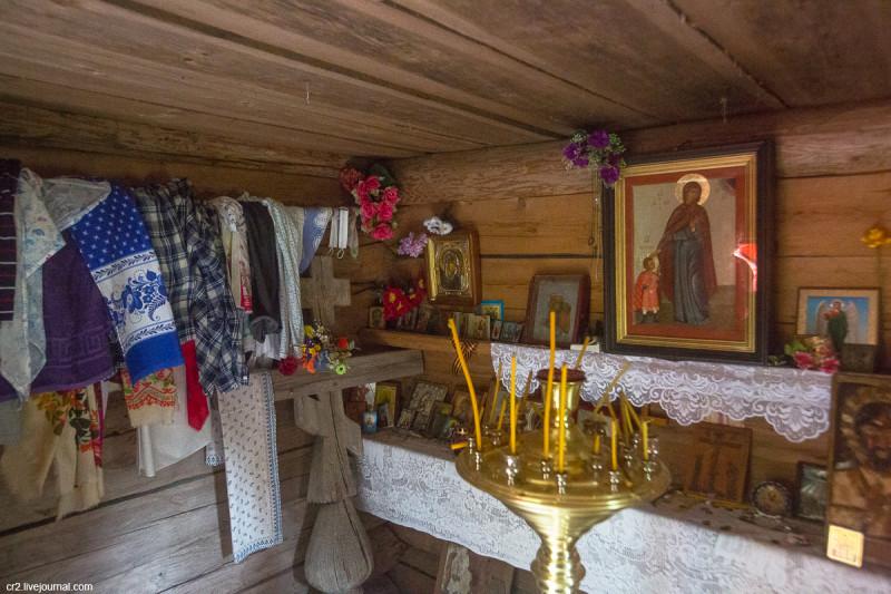 Часовня Кирика и Иулитты, интерьер. Филипповская (Почозеро), Кенозерье, Архангельская область