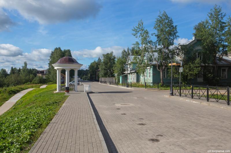 Набережная. Вельск, Архангельская область