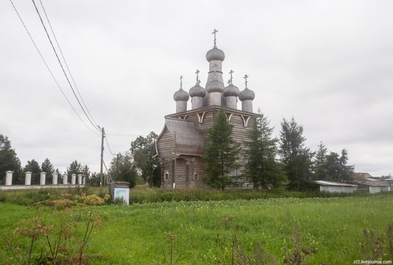 Покровская деревянная церковь. Рикасово, Архангельская область