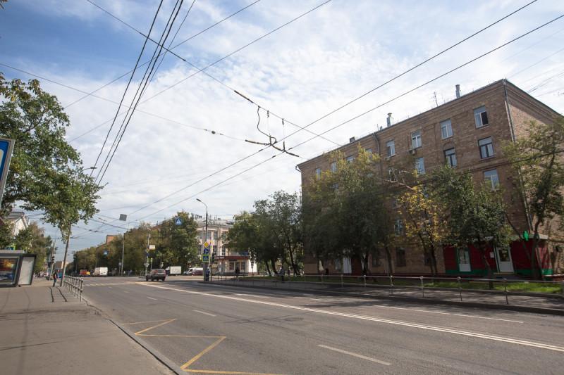 Улица Москвы, где раньше ходил троллейбус.