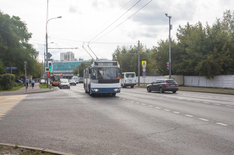 Химкинский троллейбус в Москве.