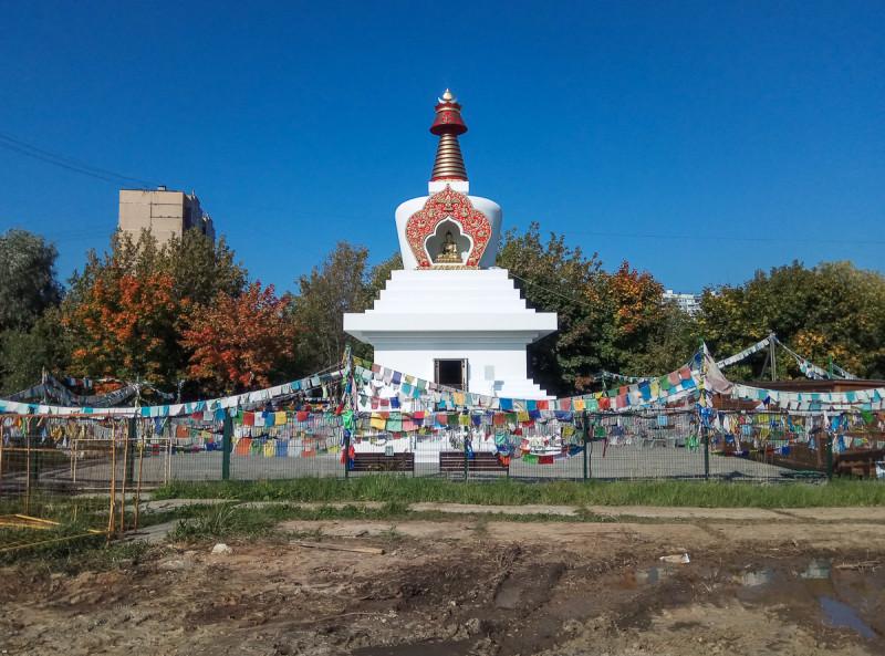 Буддийская Ступа Просветления. Москва. Фото автора поста