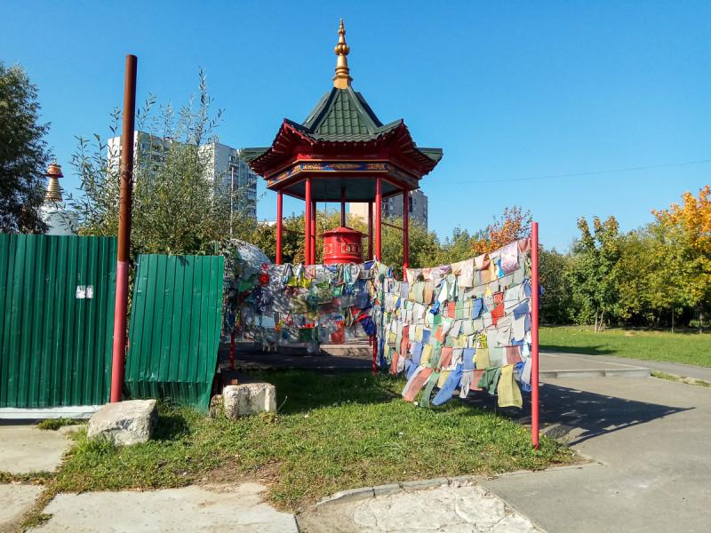 Пагода Рая с молитвенным барабаном. Москва. Фото автора поста