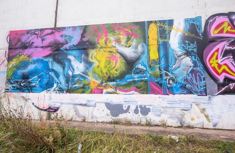 Работа художника Антоши Петухова на МКАДе. Москва. Фото автора поста