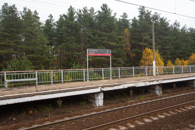 Жд-платформа Туголесье Казанского направления. Московская область. Фото автора поста
