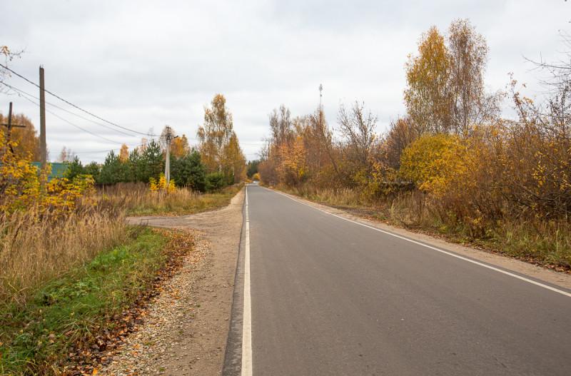 Дорога в посёлок Туголесский Бор. Московская область. Фото автора поста