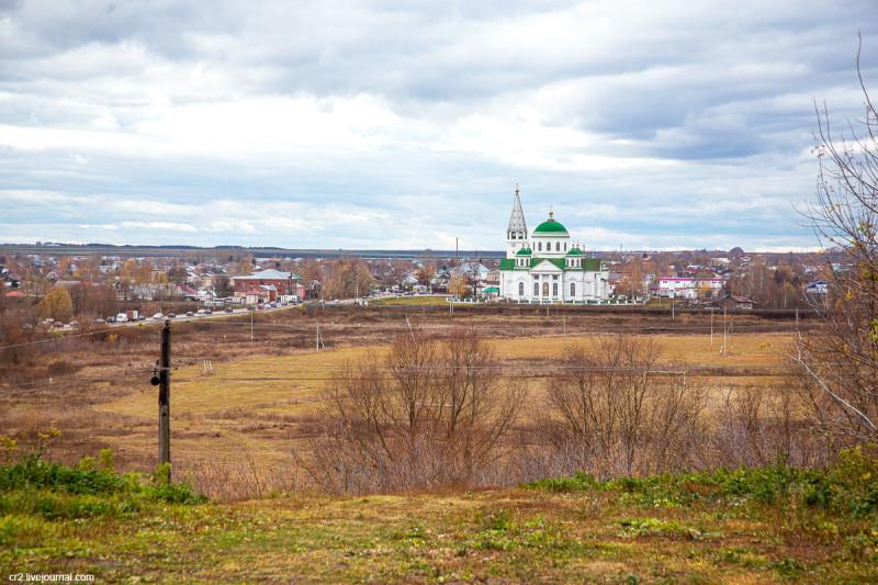 Смоленский храм села Выездное Нижегородской области, окрестности Арзамаса