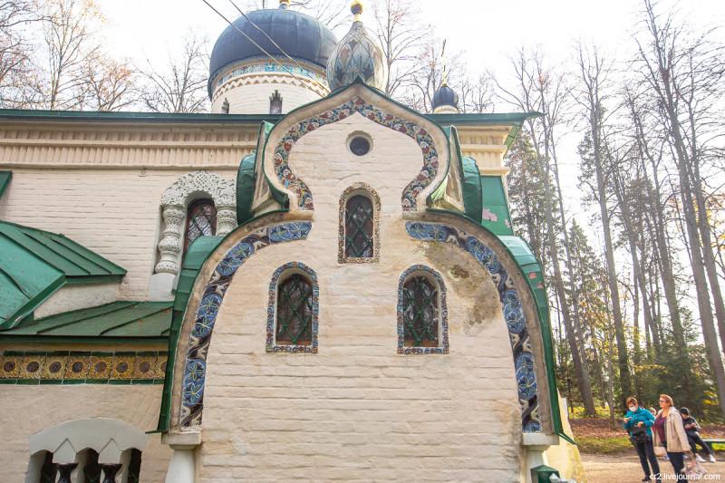 Церковь Спаса Нерукотворного Образа в усадьбе Абрамцево, детали. Московская область