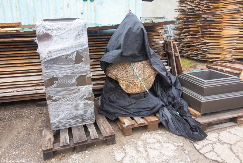 Будущий памятник на территории Спасского монастыря. Арзамас, Нижегородская область