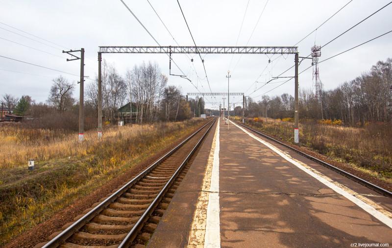 Жд-станция Лесодолгоруково Рижского направления. Московская область