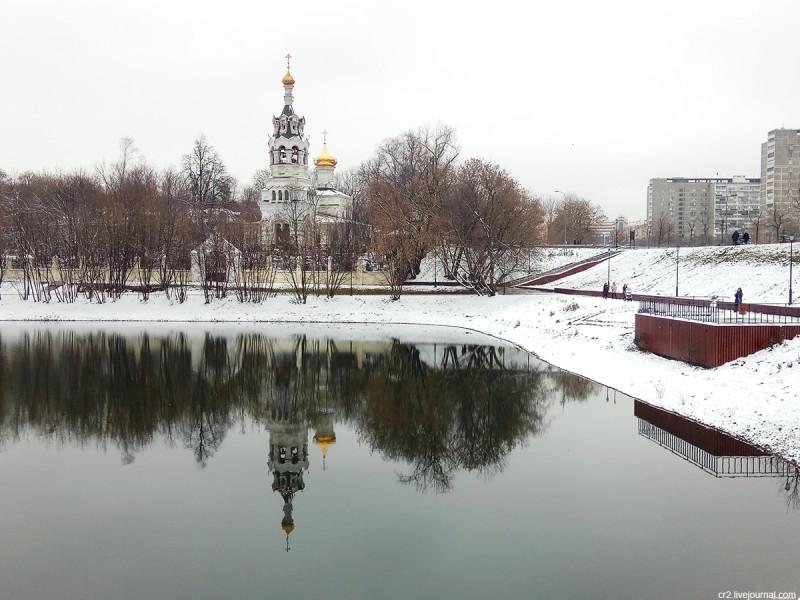 Храм Илии Пророка и Воздвижения в Черкизове и Черкизовский пруд, Москва