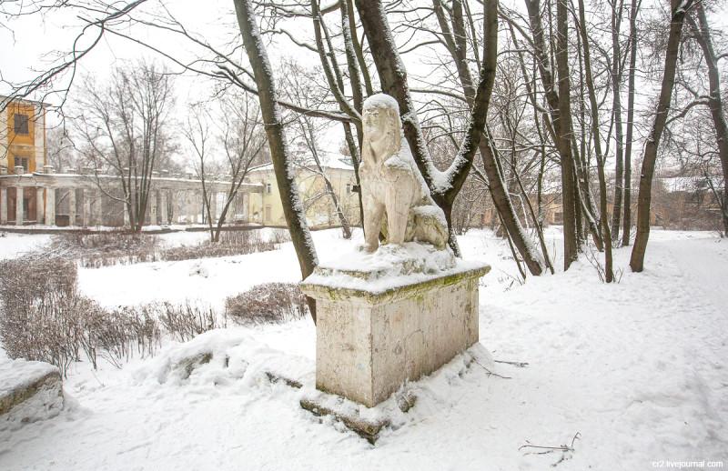 Усадьба Пехра-Яковлевское, сфинксы. Московская область