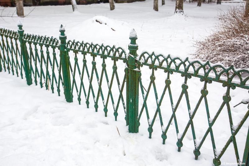 Усадьба Пехра-Яковлевское, старинный забор. Московская область