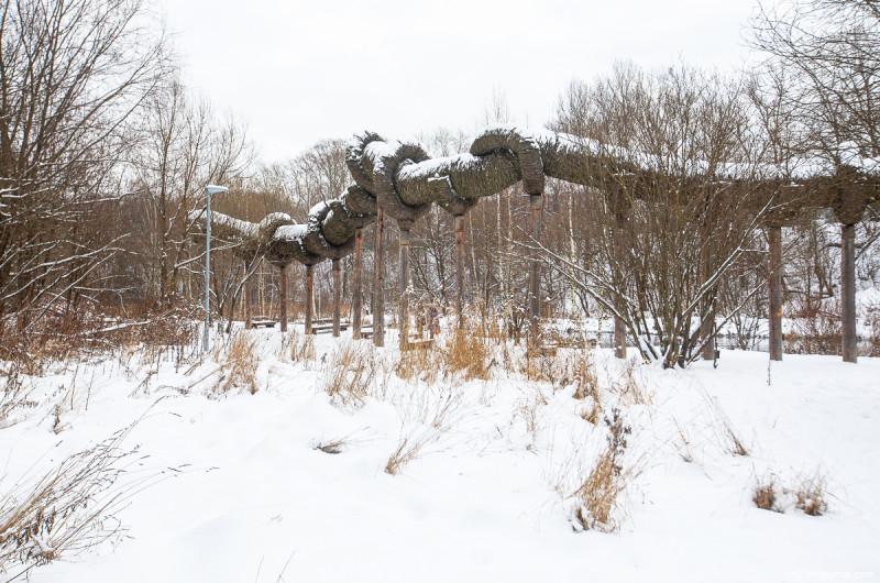 Арт-объект в парке на Яузе. Москва