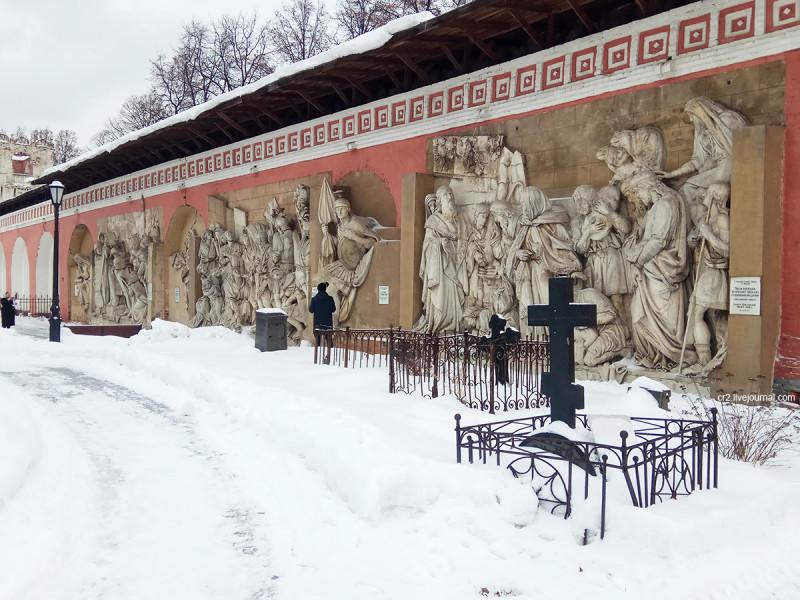 Горельефы с уничтоженного Храма Христа Спасителя. Донской монастырь, Москва
