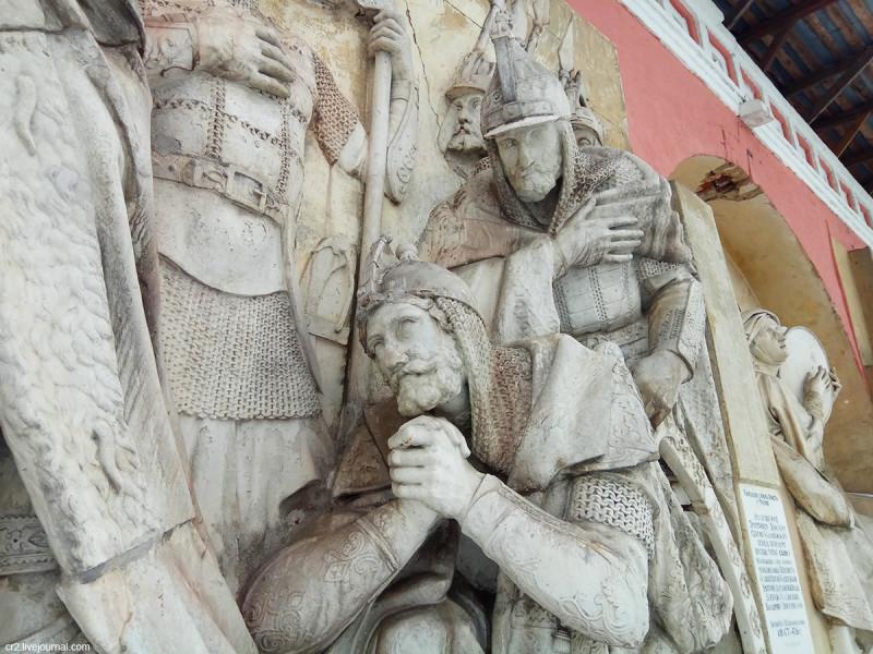 Горельеф с уничтоженного Храма Христа Спасителя, детали. Донской монастырь, Москва