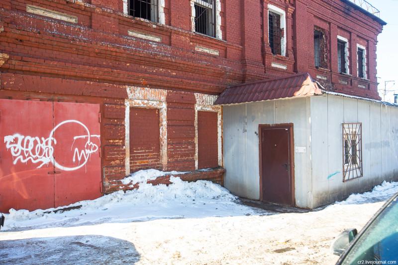 Первый передвинутый каменный дом в России. Москва