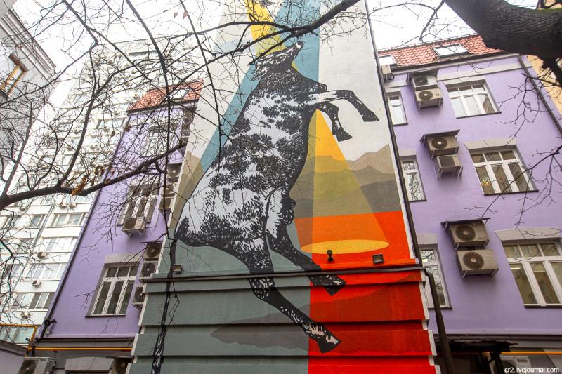 Рисунок команды ZukClub на Садовой-Триумфальной улице. Москва