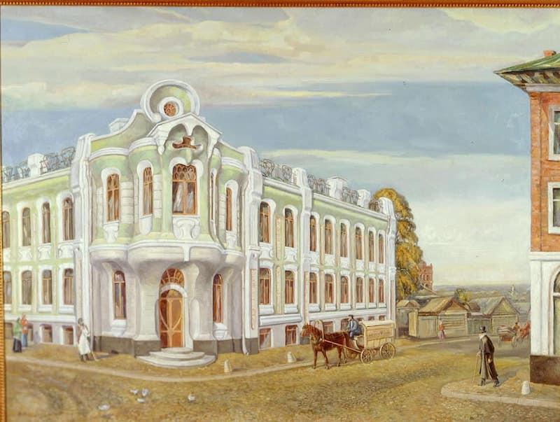 Дом купцов Абрикосовых, символ будущей Бабаевской шоколадной фабрики, до революции. Москва. Картинка из сети