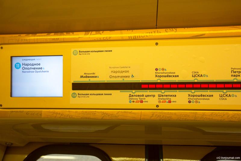 Большая Кольцевая линия московского метро, навигация
