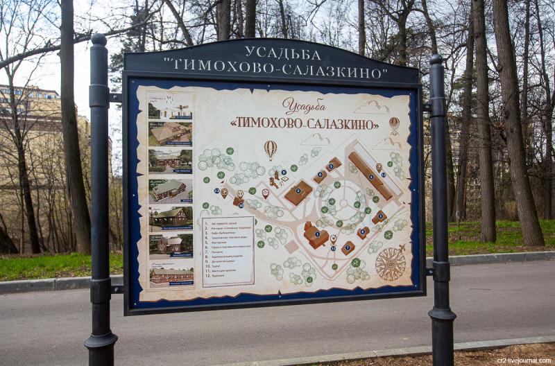 Усадьба Тимохово-Салазкино. Схема усадьбы. Видное, Московская область