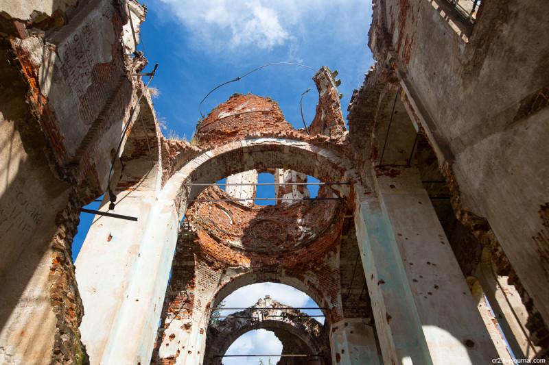 Руины Скорбященского храма. Никольский погост, что на городище. Тверская область