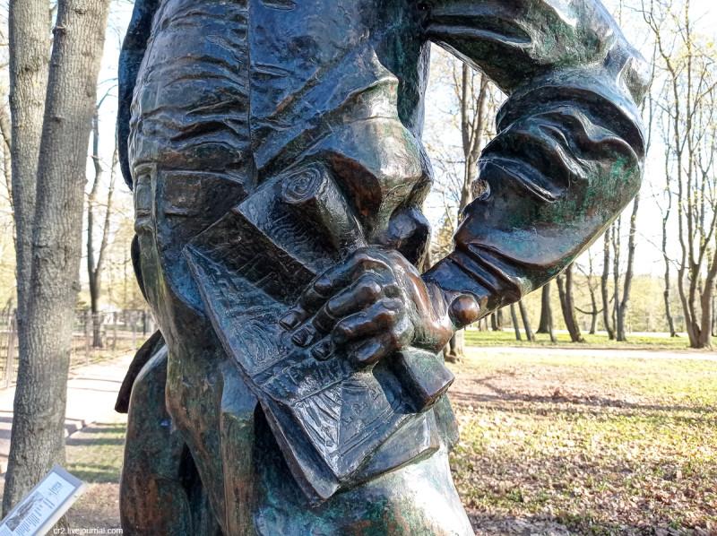 Памятник Петру I в Коломенском, детали. Скульптор Г. Франгулян. Москва